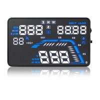 auto speedometers - Universal Q7 quot Auto Car HUD GPS Head Up Display Speedometers Overspeed Warning Dashboard Windshield Projector Reflective Film