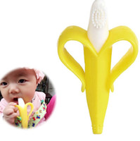 Single loaded baby bites - Baby Soothers Teethers Banana Teething Products Rings Bite Silicone Toothbrush Without BPA Opp Bag Up Years PX A23