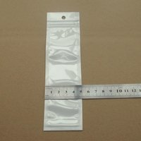 Wholesale 4x14 cm white clear zipper plastic Pearl Retail Packaging Bag Capacitive Touch Screen Stylus Pen package bags
