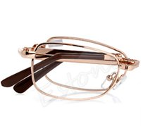 Wholesale Folding Metal Reading Glasses Diopter With Case