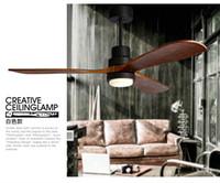 Wholesale American loft chandelier fan lights creative minimalist restaurant fan light Scandinavian retro industrial living room fan light chandelier
