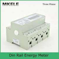 Wholesale 20 A V Din Rail Three Phase Energy Meter Portable Digital LCD RS485 Port With CT MK LEM021AC
