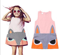 Wholesale Bala_bala Children Girl Sleeveless Cartoon Dress Skirt Kids Girl s Clothing Splicing Cotton Dresses Hot Sale Fashion Dress B