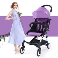 Wholesale 2017 mom stroller elegance purple poussettes en poussette pliante portable a baby carriage prams chair for infants walker