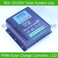 Wholesale 80A V V PWM Solar Charge Controller with LCD display battery voltage and capacity Hi Quality