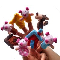 Wholesale Animal Finger Puppet Plush Child Baby Early Education Toys Gift Pretend Play Toys Games
