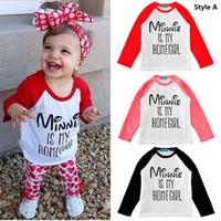 Wholesale 2016 INS quot Minnie is my homegirl quot New Kids baby boys Girls Fashion Cotton long sleeve tops Letter Print T shirt Tops children Clothes K488