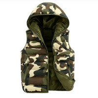 Wholesale Mens women spring autumn clothing fashion casual vest men camouflage vests men down sleeveless jacket waistcoat
