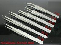 al por mayor acero inoxidable venus-VENUS Marca SA Series Reparación Mobile Watch Herramientas Anti-Magnético Anti-Acido Matte Pinzas de acero inoxidable para Industrias de sujeción