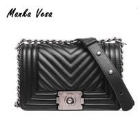 Wholesale Manka Vesa brand bag flap bag women handbag PU Leather Caviar Flap Bag with chain women fashion lattice handbags