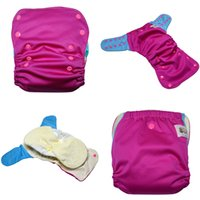 baby met - JinoBaby aio cloth diapers Hot Pink Meet Sky Blue Reusable Bamboo Diapers for Babies