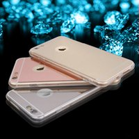 For Samsung acrylic edge lighting - Mirror Acrylic Phone Case For iPhone s Plus G Samsung A9 S6 Edge S7 LG V10 G4 Light Bling TPU Ultra thin Protective Back Cover Cases