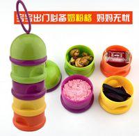 Grossiste-Bébé nécessaire utile détachable humidité alimentation-bouteille quatre couches lait boîte bouteilles 2 pcs / mélange de lot