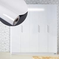 Wholesale High Glossy White DIY Decorative Film Self adhesive Wallpaper Furniture Renovation Stickers Kitchen Cabinet Waterproof Wallpaper