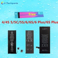 Wholesale 0 cycle For iPhone Plus Li ion Replacement Battery With Sticker Adhesive For iPhone C S S S S Plus