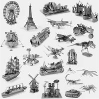 Metal best building toys - 3D Metal Puzzle World Building Vehicle Car Ship Animal Military Fighter Airplane Jigsaw Puzzle DIY Model Best Toy Gifts