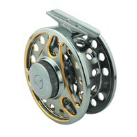Wholesale HiGREE NEW BRAND FLY FISHING Double colored Aluminum Alloy Machine Cut Fly Fishing Reels SLA Large Arbor Spool Width mm Fly Reel