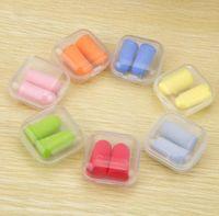 Wholesale Bullet shape Foam Sponge Earplug Ear Plug Keeper Protector Travel Sleep Noise Reduce with retail box