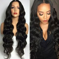 Wholesale Peruvian Deep Wave Full Lace Wigs Virgin Human Hair Lace Front Wig With Baby Hair For Black Women A Middle Part Top Quality