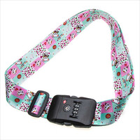 Wholesale Personalized Polyester TSA Lock Luggage Strap TSA Approved Luggage Straps Supplier