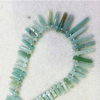 amazonite jewelry - Natural Genuine Raw Mineral Blue Amazonite Slabs Slices Flat Stick Nugget Teeth Beads Drill Side Fit Jewelry Necklace Bracelets quot
