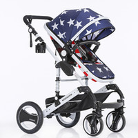 aluminum baby stroller - Luxury Baby Stroller High Landscape Sit lightweight aluminum alloy four wheels single seat pram by M7