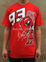 Wholesale New Fashion Summer MOTO GP Marc Marquez T Shirt Men Motorcycle Short Sleeve T shirt Casual Tees red plus