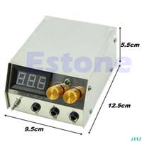 Wholesale US Plug EU Plug Professional LCD Stainless Steel Dual Digital Tattoo Machine Power Supply New J117