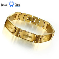 Wholesale Fashion Cross Accessorise Man Bracelet L Stainless Steel With Gold Plated Bracelet For Men JewelOra BA101127