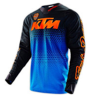 Wholesale New Arrival TROY LEE DESIGNS TLD SE Jersey LE KTM Starburst Blue Orange MTB BMX Men s Motocross Outdoor sport