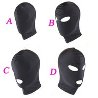 4 Style Fetish Mask Hood Jouets sexy Open Mouth Eye Bondage Hood Party Mask Hood Headgear Mask BDSM Adult Game Sex Products