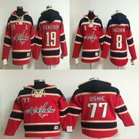 Wholesale Old Time Washington Capitals Mens Alex Ovechkin Nicklas Backstrom T J Oshie Red Hoodies Hockey Jerseys Sweatshirt Jackets Jersey