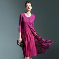 Wholesale Womens Work Suits Cultivate One s Morality Fold National Wind Cultivate One s Morality Show Thin Posed Seven Long Sleeve Dress In The Lace
