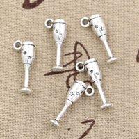 antique champagne flute glasses - Charms champagne flutes wine glass mm Antique pendant fit Vintage Tibetan Silver DIY for bracelet necklace