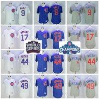 Wholesale 2016 World Series Champions Chicago Cubs Jerseys Baseball Postseason Patch Kris Bryant Anthony Rizzo Jake Arrieta Javier Baez