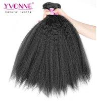 aliexpress brazilian hair - ertified Human Hair Hair Weaving Top Quality Brazilian Hair Kinky Straight Weave Virgin Human Hair Aliexpress YVONNE Hair C