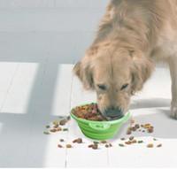 Wholesale High Quality Grade Fold Pet Bowl Folding Dog Bowl Pet Food Dish Pet Feeders color