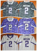 Wholesale Trevone Boykin Jersey TCU Horned Frogs Trevone Boykin College Football Jersey Men s Sport Jerseys Size S XXL Mixed Order