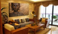 Дешевый Большая работа панели-Unframed Будда Печать Картина Одна панель стены искусства декора Большой живописи на холсте современного искусства цифровой печати