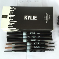 auto eyebrow - Waterproof Kylie Eyebrow Pencil Enhancer Brush Auto Long Lasting Eye Brow Pen Eyes Make Up Tool Automatic rotating Eyebrow Paint Free DHL