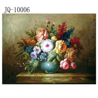 Wholesale Modern wall art home decorative landscape flower oil painting Printedon canvas Water Flower Plants Scroll Painting One Panel Canvas printed