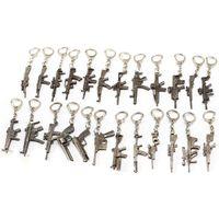 arm key - 31 Styles Weapon Gun Keychain Models CF FireWire Arms Gun Mode Rifle Key Chain Chaveiro Military Model