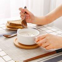 al por mayor cuchara de estilo japonés-Estilo Japonés Cucharas de Madera Grande Cucharas de Madera de Seguridad Alimenticia con Kinking para Sopa Arroz Cereal Cuchillería de Madera Utensilios