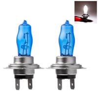 Wholesale 2Pcs H7 PX26D V K W Super White Auto Car HOD Halogen Bulbs Lamps Headlight Bulbs For Any Car Headlight Bulbs V