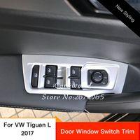 Volkswagen auto window switches - For VW Volkswagen Tiguan L Allspace Door Window Switch Cover Trim Auto Interior Armrest Panel Decoration Car Accessories