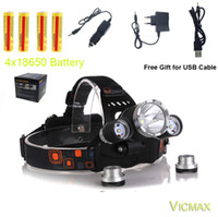 Wholesale 2pair battery include Headlamp Lm XML T6 R5 LED modes Headlight Lamp Light Torch Camping Fishing