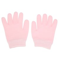 Wholesale Pair Pink Gel SPA Moisturising Gloves Hand Mask Dry Hard Skin Hands Care Therapy Moisturizing Treatment Glove Skin Beauty Tool