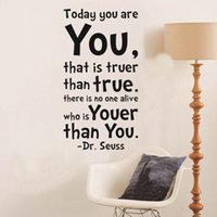 abstract sticker design - Today You Are You Quote Wall Decals Decorative Removable Vinyl Wall Stickers
