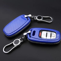 audi cases - Carbon fiber Car key cover case for Audi A3 A4 A5 A6 A7 A8 Car Key Case Shell