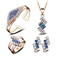 asian fashion designers - 18k gold jewelry designer luxury jewelry Jewelry set with crystal and alloy fashion popular hotselling